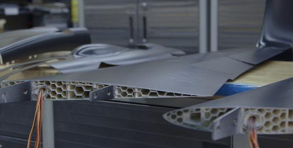 Wing pieces from Aurora aircraft